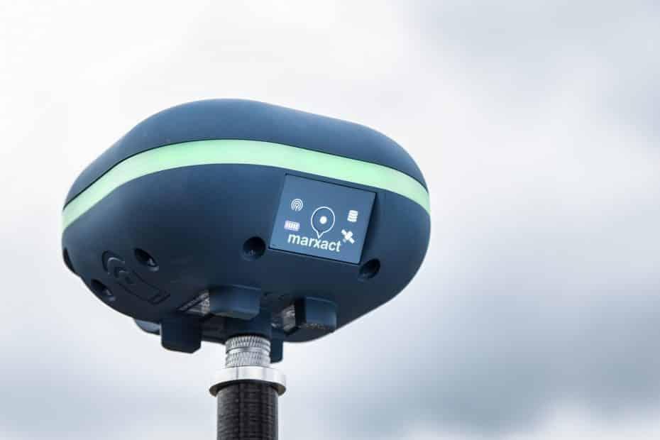 UNI-GR1 on a survey pole close-up
